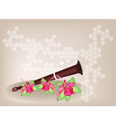 Musical Serunai Flower Background vector