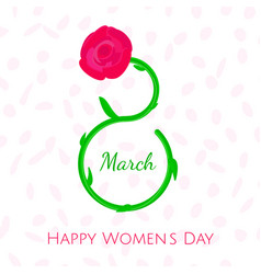 Nice women s day greeting card 8th march vector