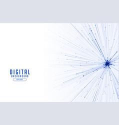Particle lines burst technology concept background vector