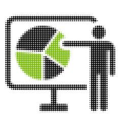 pie chart public report halftone icon vector image