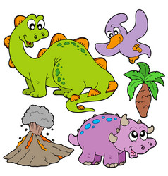 prehistoric collection vector image