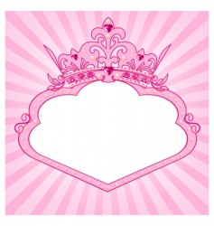 Princess crown frame vector