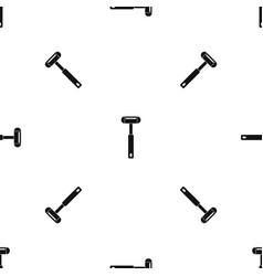 Reflex hammer pattern seamless black vector