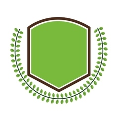 Restauran emblem with leaves icon vector