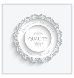 Round paper frame vector