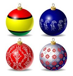 Set christmas baubles vector
