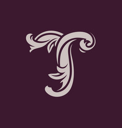Sign the letter t vector