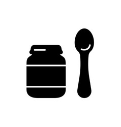 Silhouette set bafood jar with separate vector
