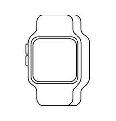 smart watch device technology wireless vector image