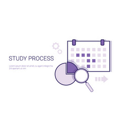 study process business analysis concept template vector image
