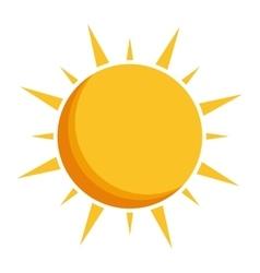 sun representation icon image vector image