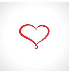 Symbol heart vector