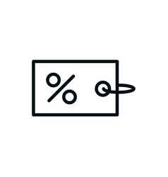 tag percent discount shopping line style vector image
