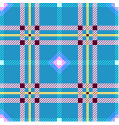 Tartan fabric seamless texture square pattern vector