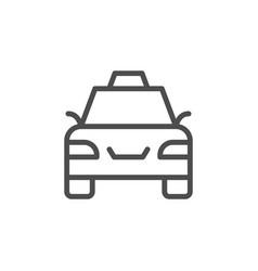 taxi line icon vector image