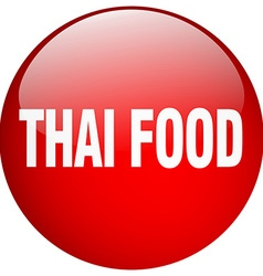 Thai food red round gel isolated push button vector