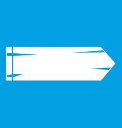 Thick arrow icon white vector