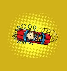 time bomb explosive dynamite vector image
