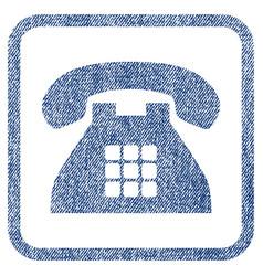 Tone phone fabric textured icon vector