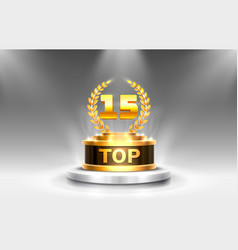 Top 15 best podium award sign golden object vector