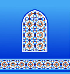 Traditional moroccan mosaic vector