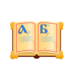 Traditional russian ancient book with the vector
