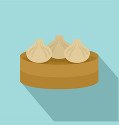 Traditional taiwan cake icon flat style vector