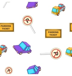 Valet parking pattern cartoon style vector