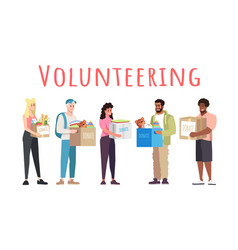 Volunteering and donations banner template vector