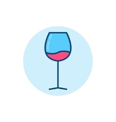 Wine glass flat icon vector image