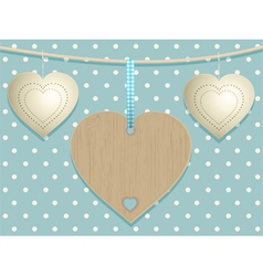 Cute Hearts Background vector image vector image