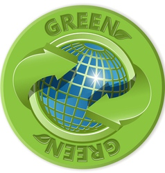 eco green label vector image vector image
