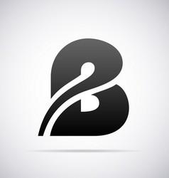 Logo for letter B vector image