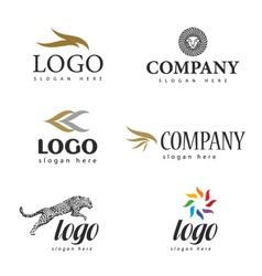 Logo fur salon vector