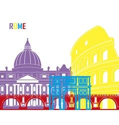 Rome skyline pop vector image