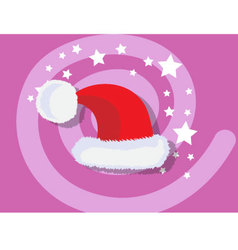 Santa Claus hat icon christmas vector image