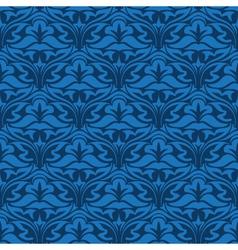 blue seamless wallpaper pattern vector image