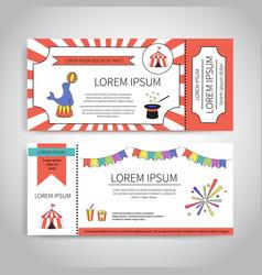 Circus tickets design vector