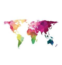 mosaic world map vector image