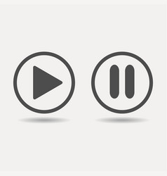 play and pause buttons icon vector image