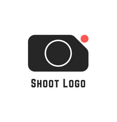 shoot logo with simple camera sign vector image