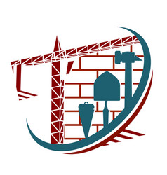 symbol for construction vector image