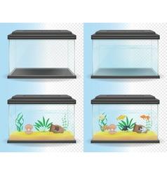 transparent aquarium 05 vector image vector image