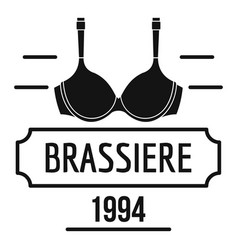 brassiere logo simple black style vector image