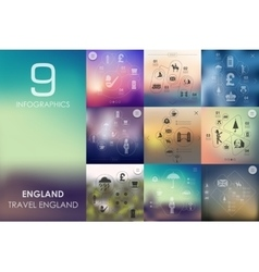 England infographic with unfocused background vector image