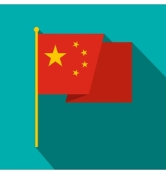 Flag of China icon flat style vector image