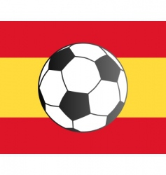 flag of Spain and soccer ball vector image