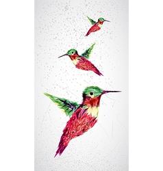 Humming bird geometric vector image vector image