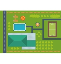 Top view of outdoor house vector image