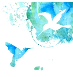 Animal Background with Hummingbirds vector image
